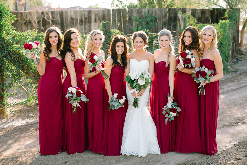 bridesmaids-maroon-red-white-bouquets-vienna-glenn-photography-windmill-winery-dessy-group-arizona-wedding-bridesmaid-dresses-bridal-party-dessy-dresses