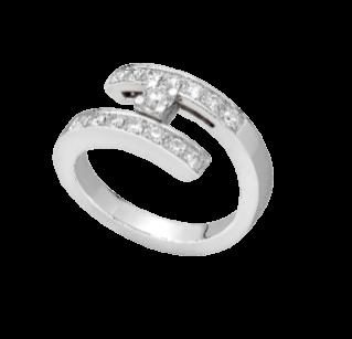 18K白金鈦鑽石戒指