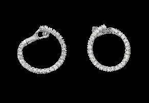 18K白金鈦鑽石耳環